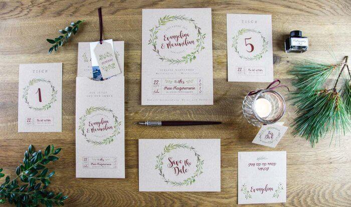 Einladungskarten Hochzeit Landhausstil