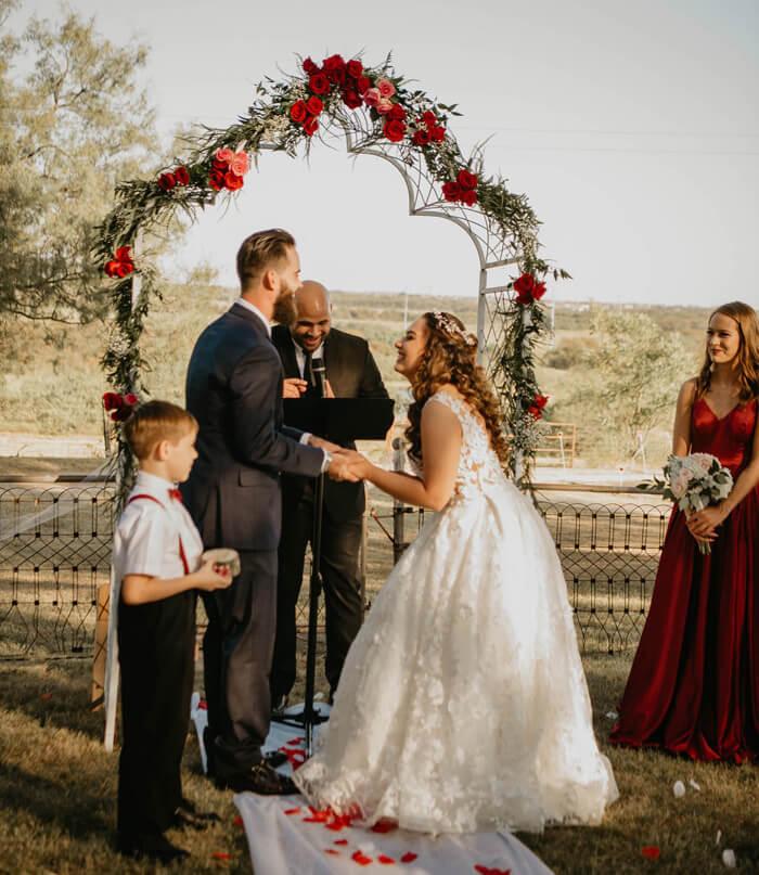 Blumenbogen Hochzeit mieten