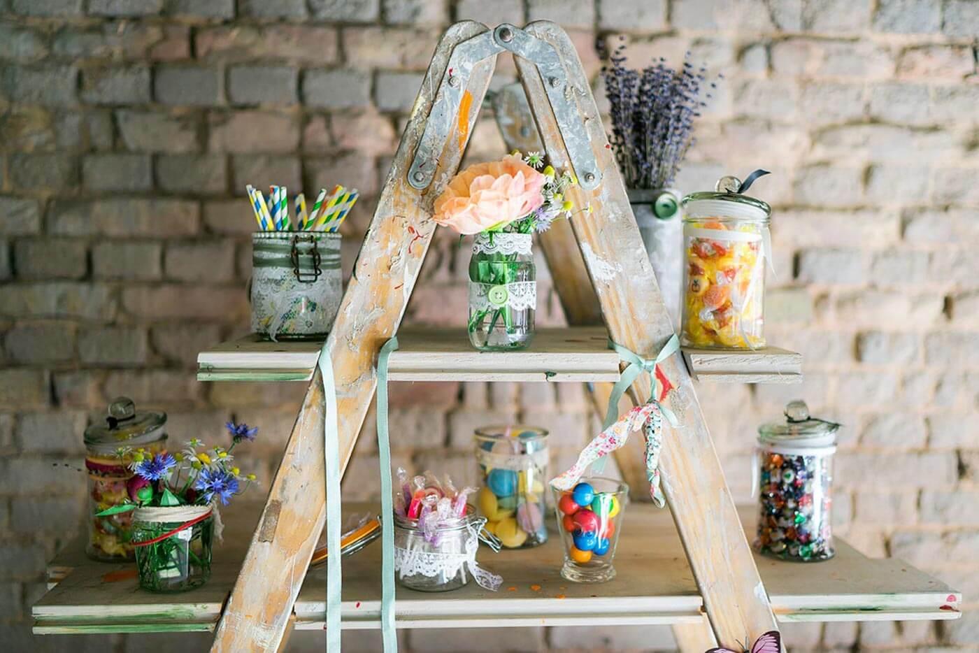 Vintagehochzeit Scheunenhochzeit Candybar