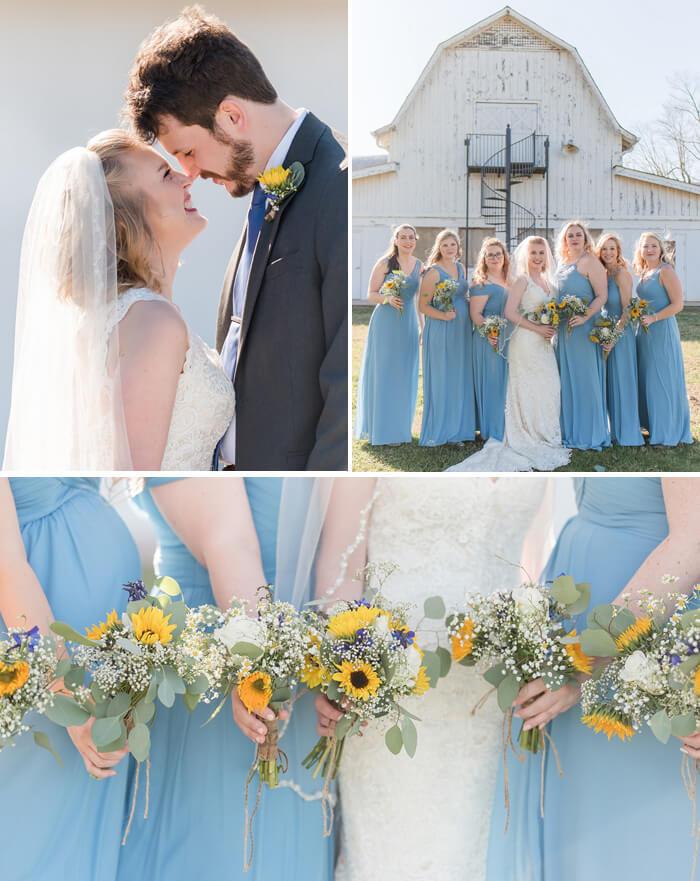 Brautjungfern Sonnenblumen