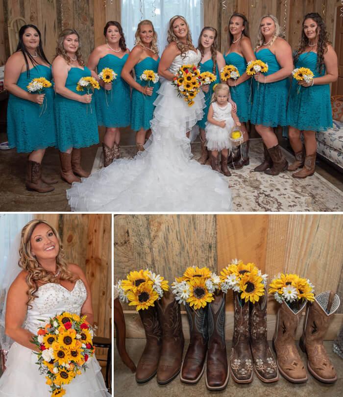 Sonnenblumen Braut