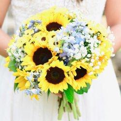 Sonnenblumen Hochzeitsstrauss