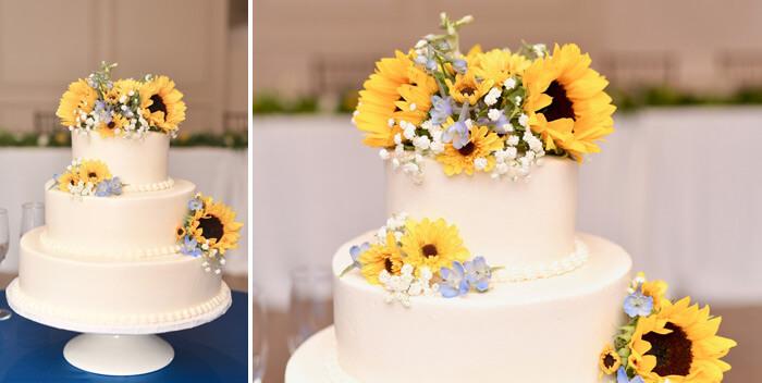 Sonnenblumen Hochzeitstorte