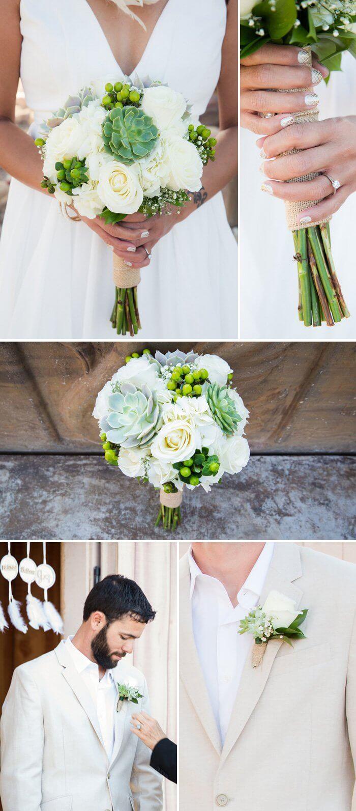 Traumfänger Hochzeit Brautstrauß