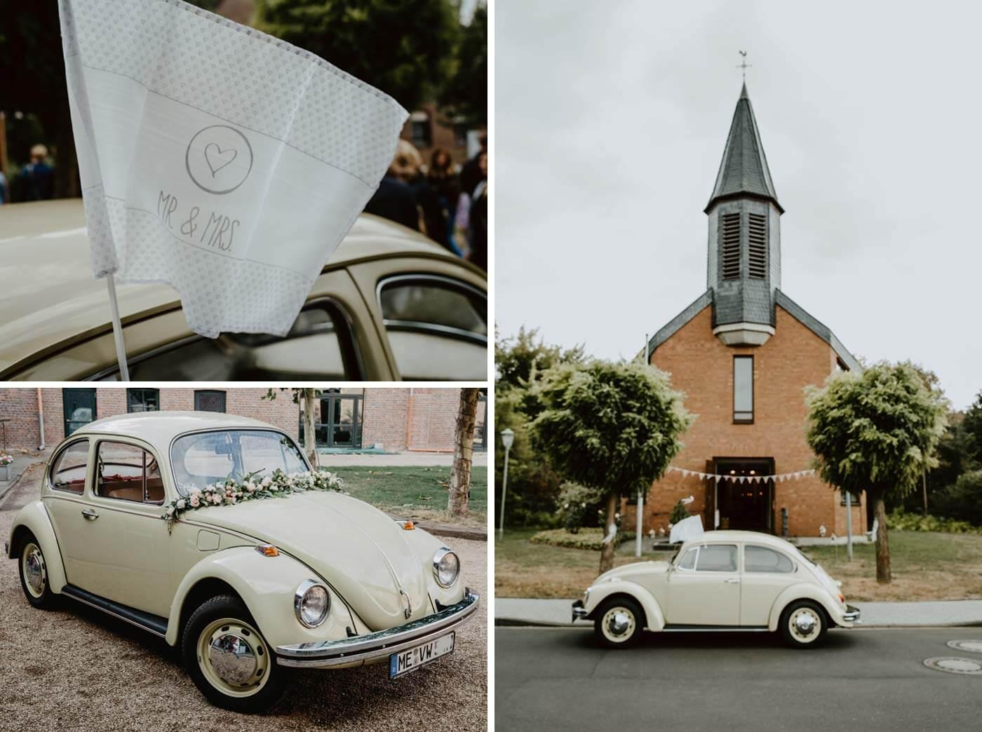 Hochzeitsauto Käfer