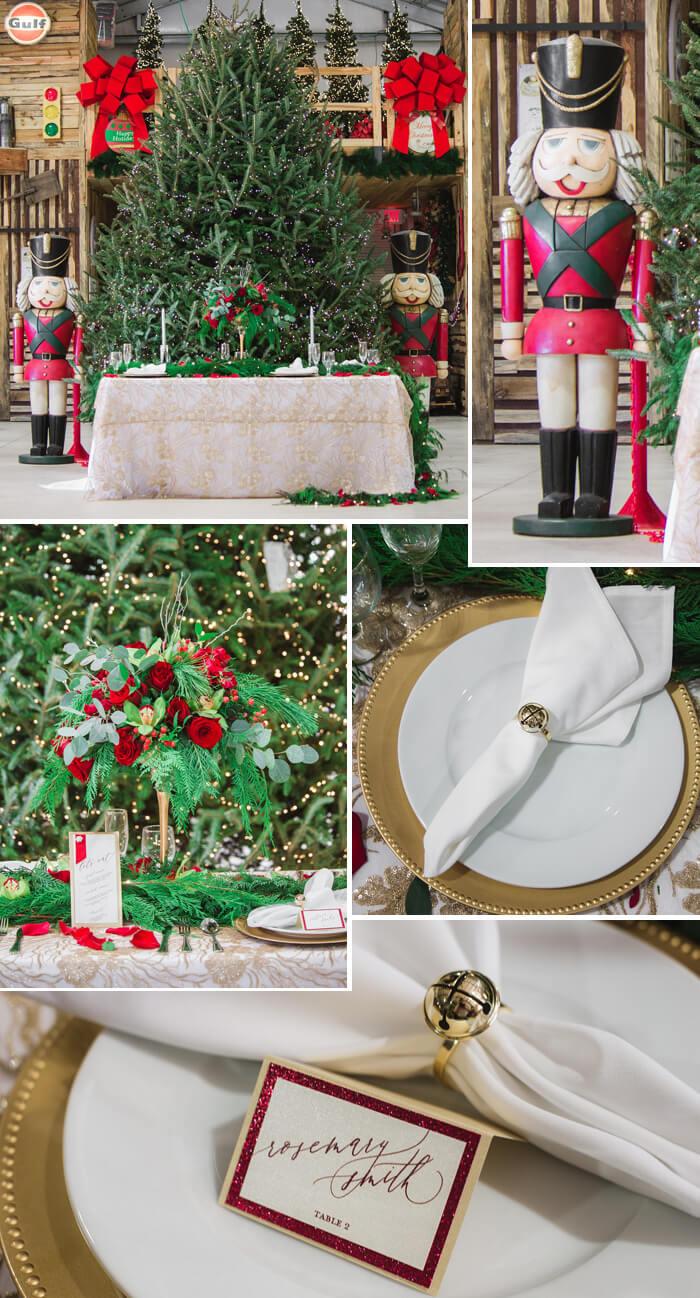 Weihnachten Hochzeit Tischdeko