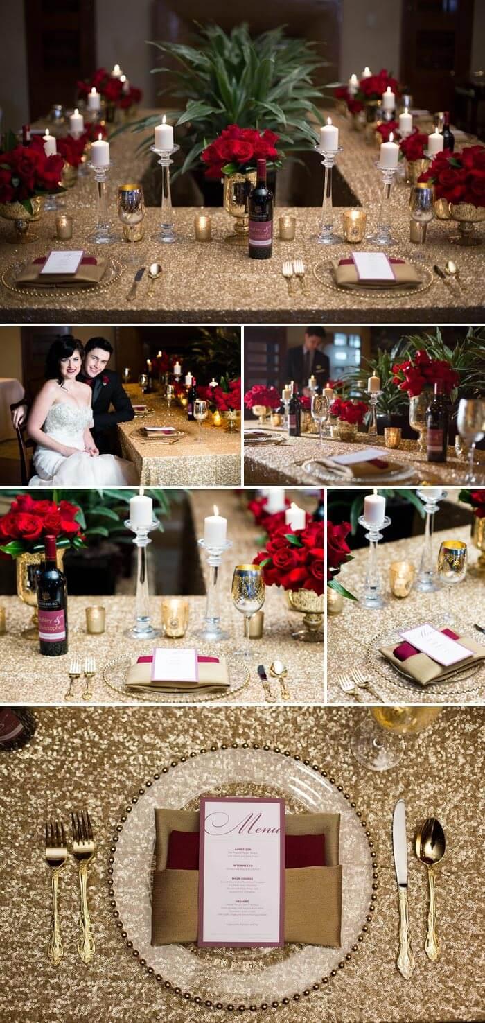 Heiraten im Schnee: Die Tischdeko