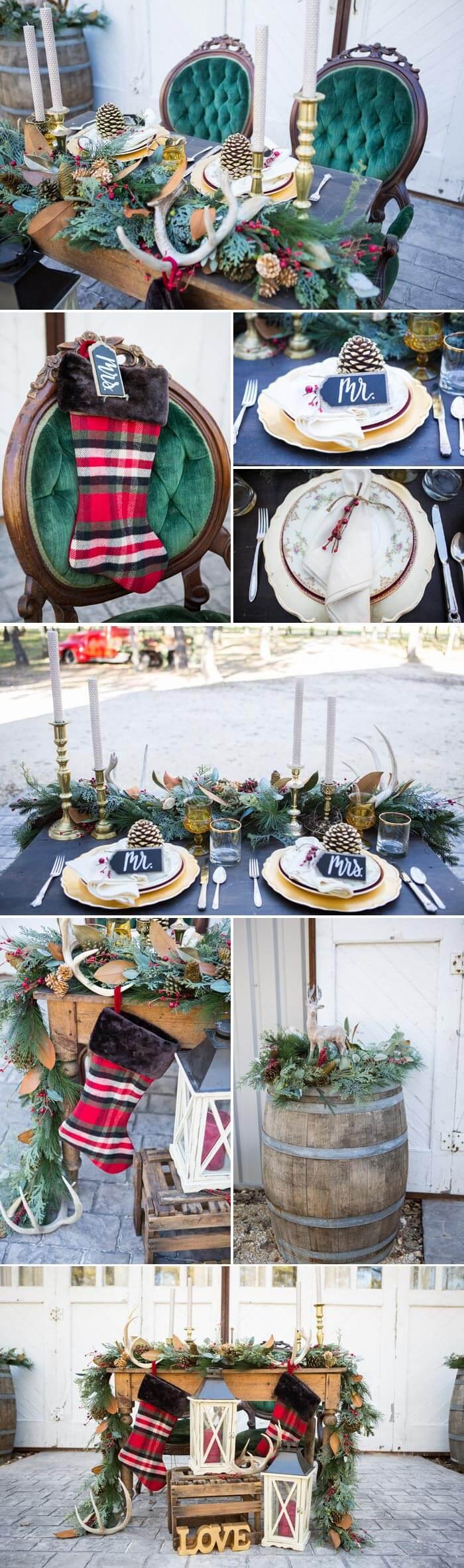 Hochzeit an Weihnachten - Tolle Dekomöglichkeiten inklusive