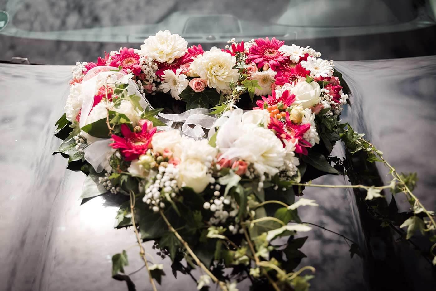 Autodeko Blumen