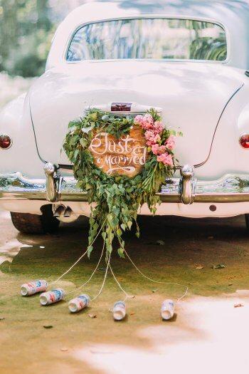 Hochzeit Dosen Am Auto I Gro 223 E Bildergalerie Autoschmuck