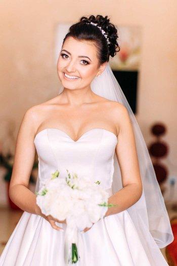 Brautfrisuren mit Schleier