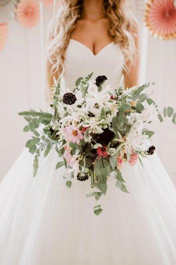 Blumenstrauß für die Hochzeit