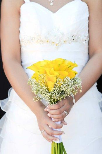 Brautstrauß Calla Gelb