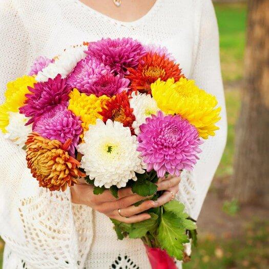 Brautstrauß Chrysanthemen