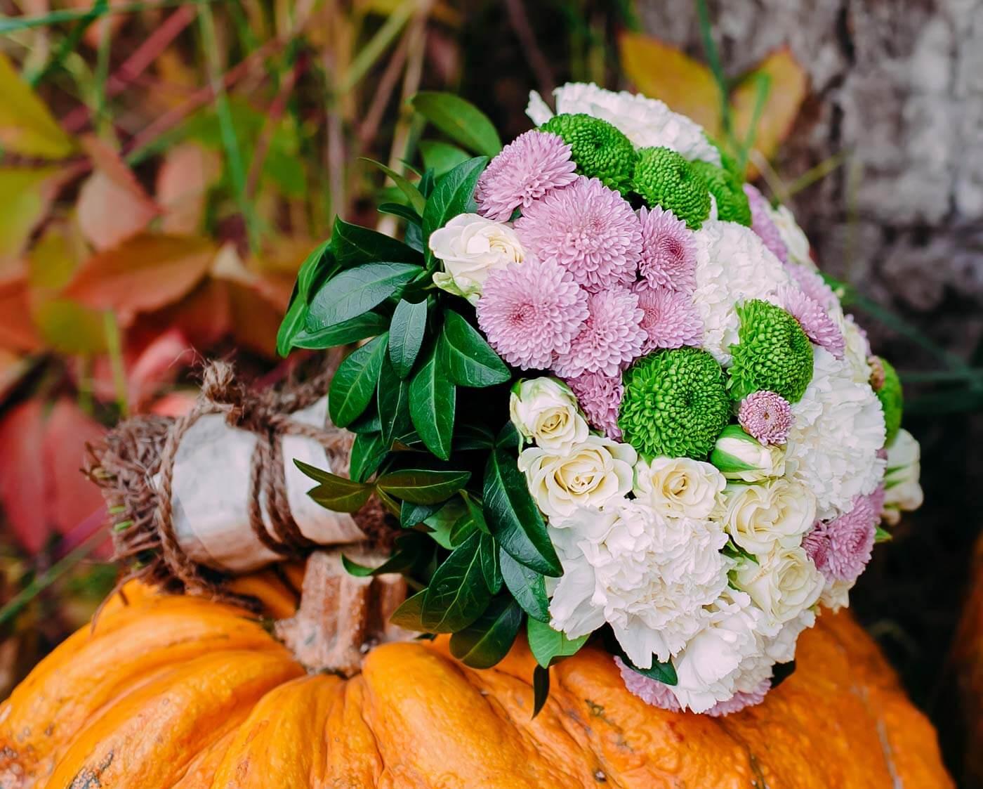 Brautstrauß Herbst Blumen