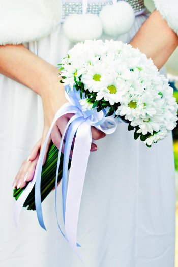 Brautstrauß mit weißen Margeriten