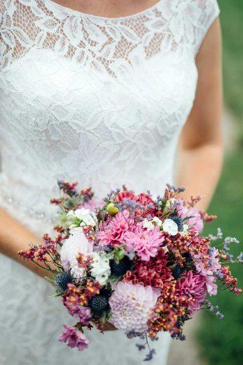Brautstrauß Naturblumen
