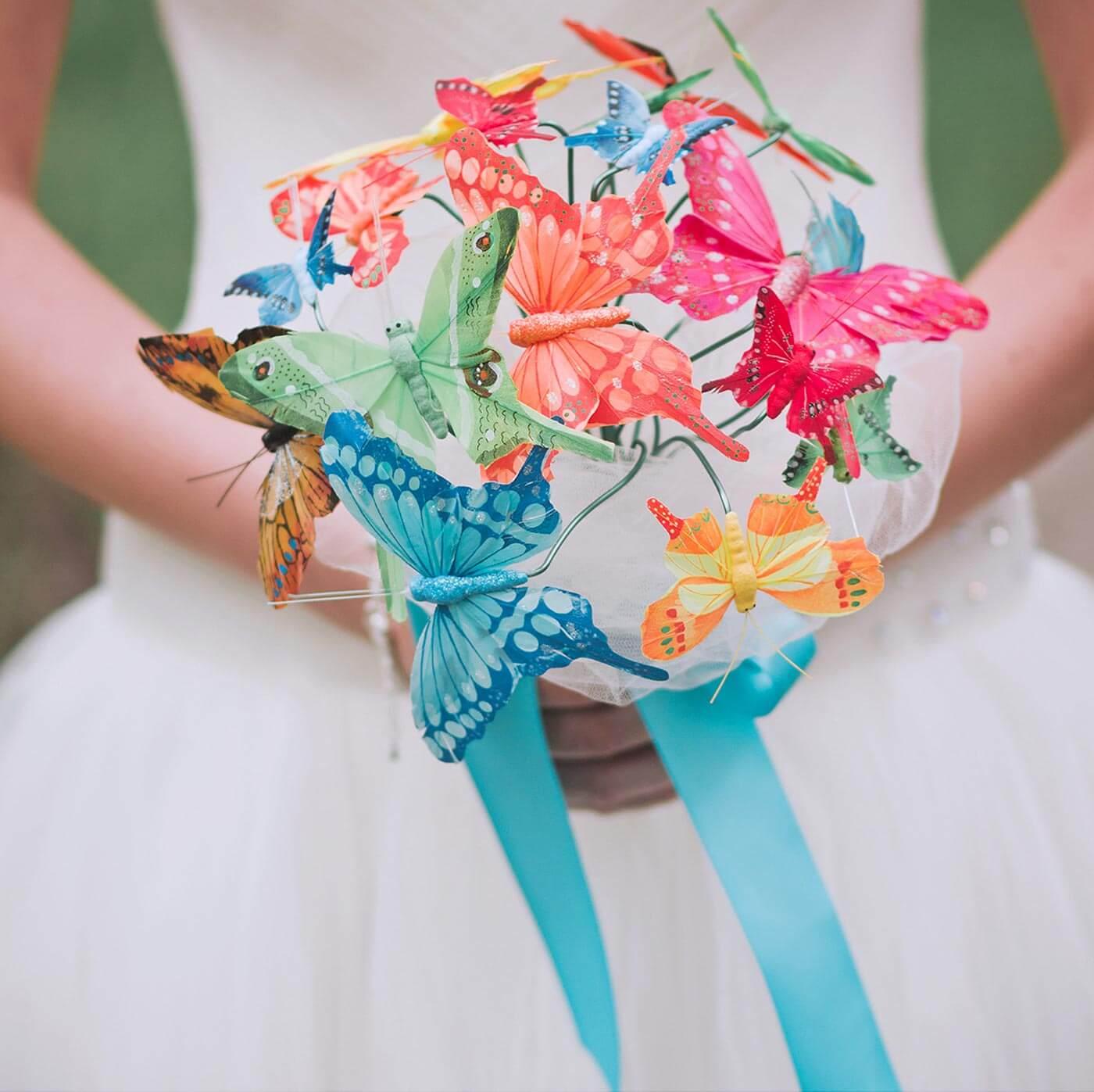 Brautstrauß Schmetterlinge