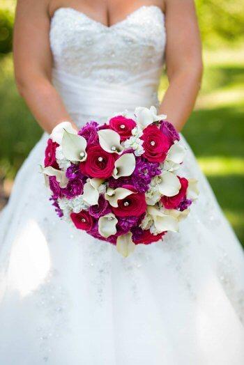 Brautstrauß mit Strass