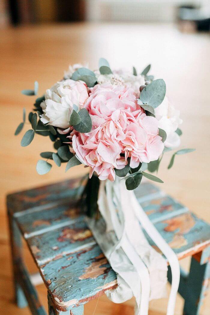 Brautstrauß rosa weiß