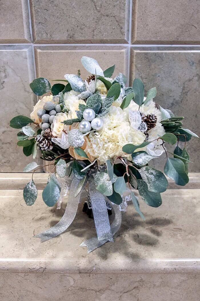 Brautstrauß weihnachtlich