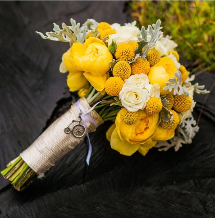 Hochzeitsstrauß Gelb