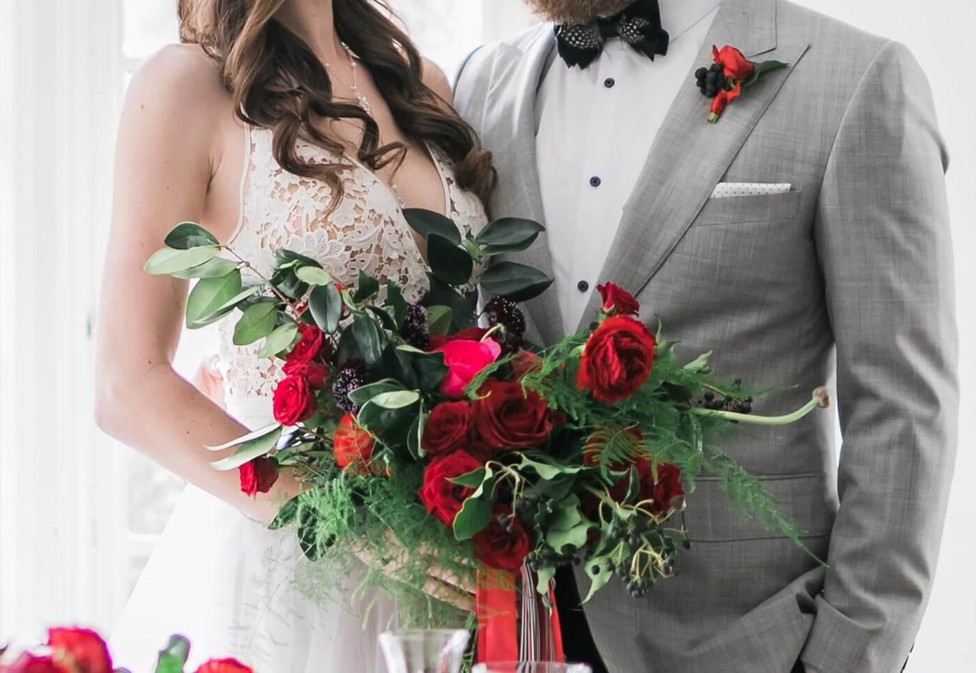 Hochzeitsstrauß Rot