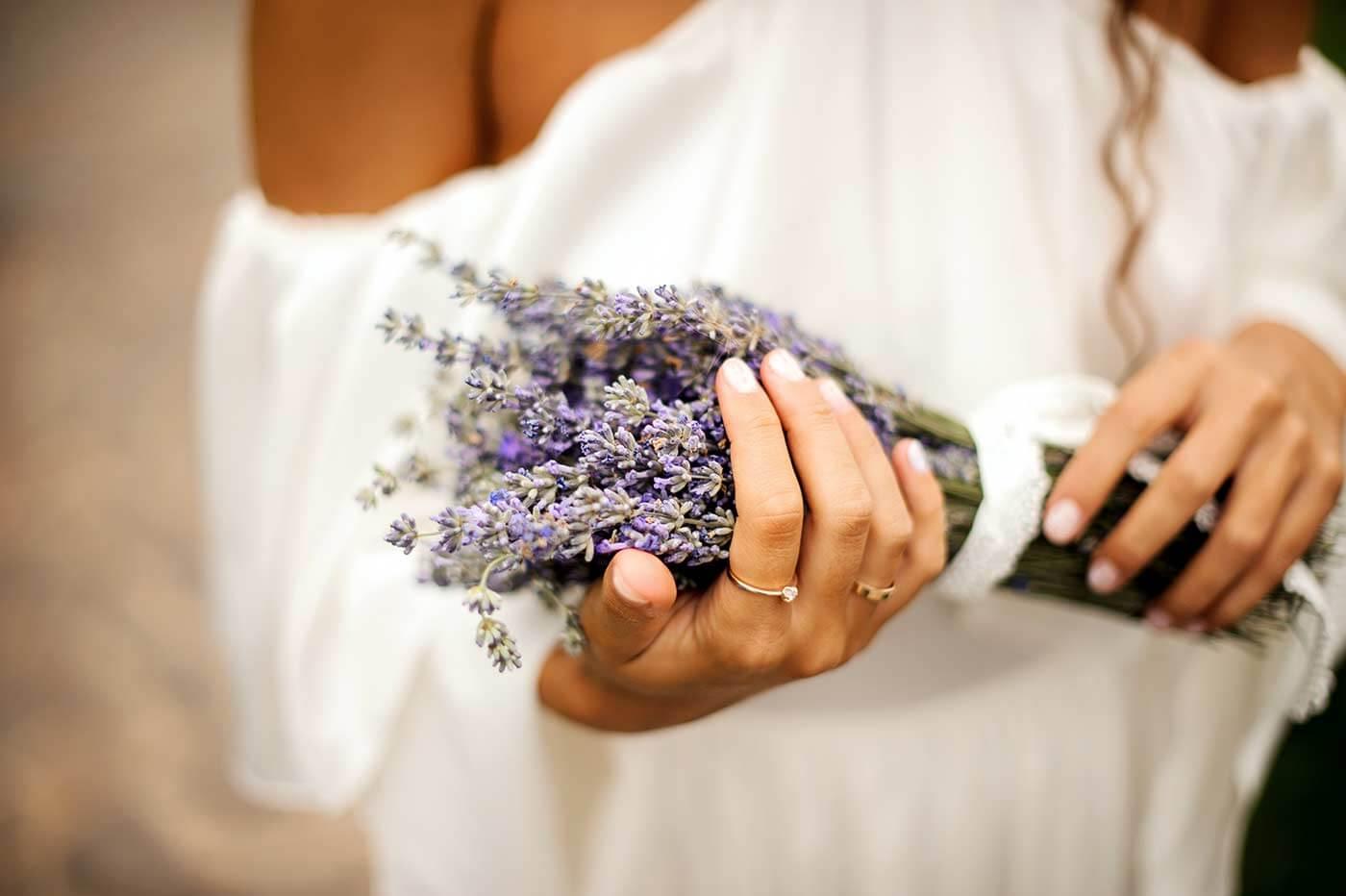 Lavendel Brautstrauß