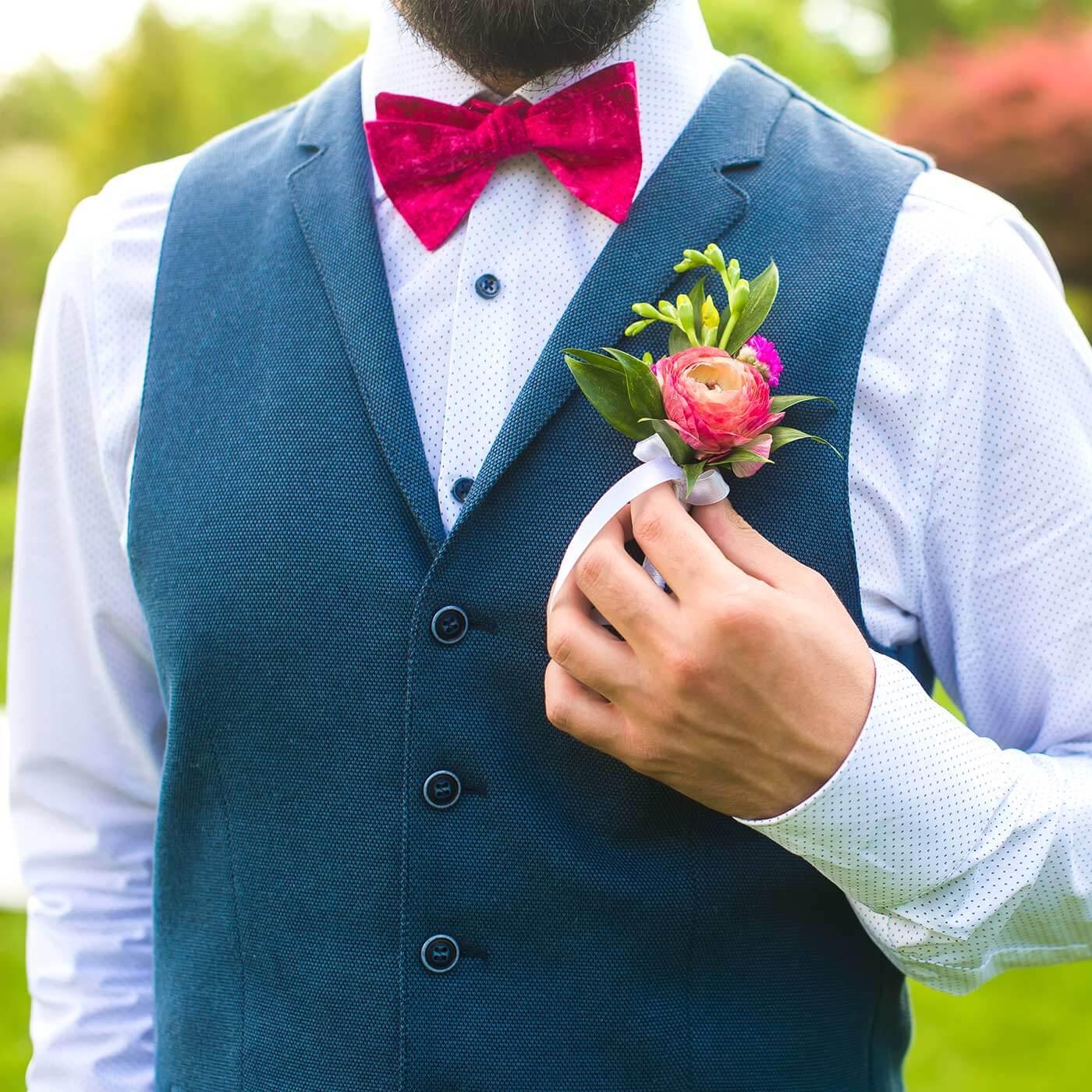 Anstecker für Hochzeit selber machen