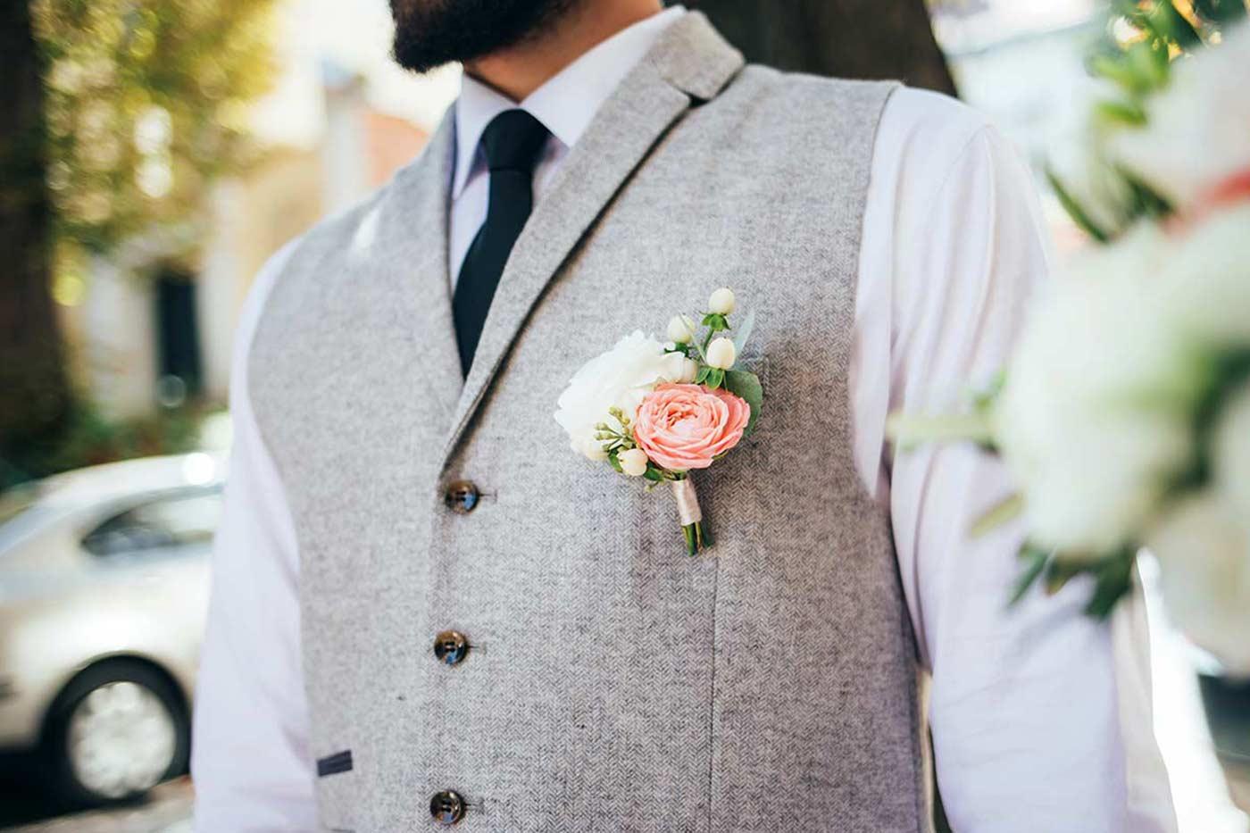 Blumen Anstecker Hochzeit