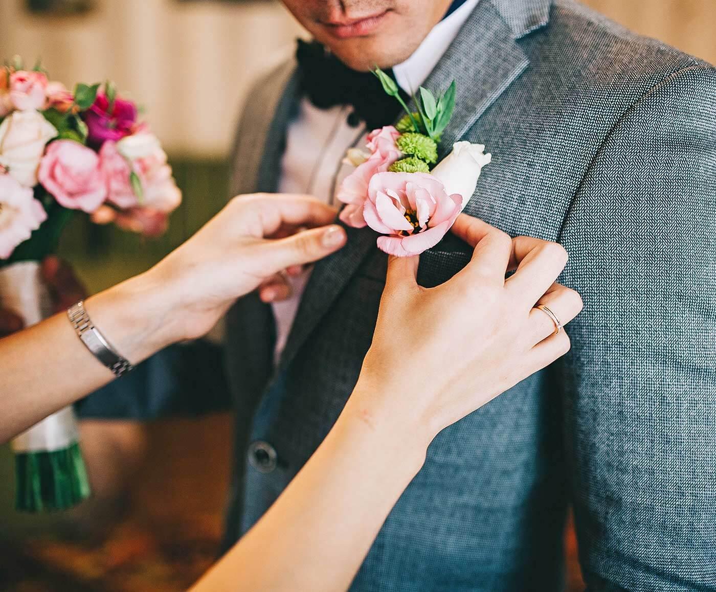 Hochzeit Anstecker