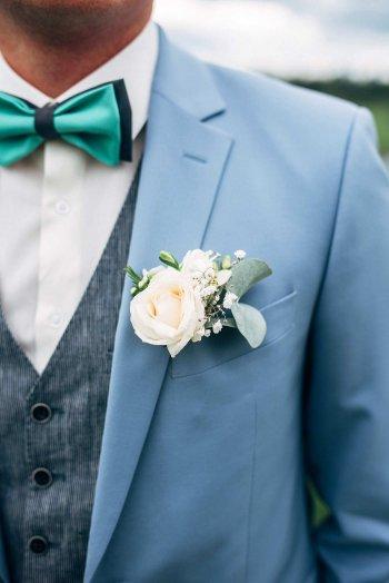 Hochzeitsanstecker Bräutigam