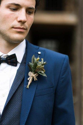 Hochzeitsanzug Blumenanstecker