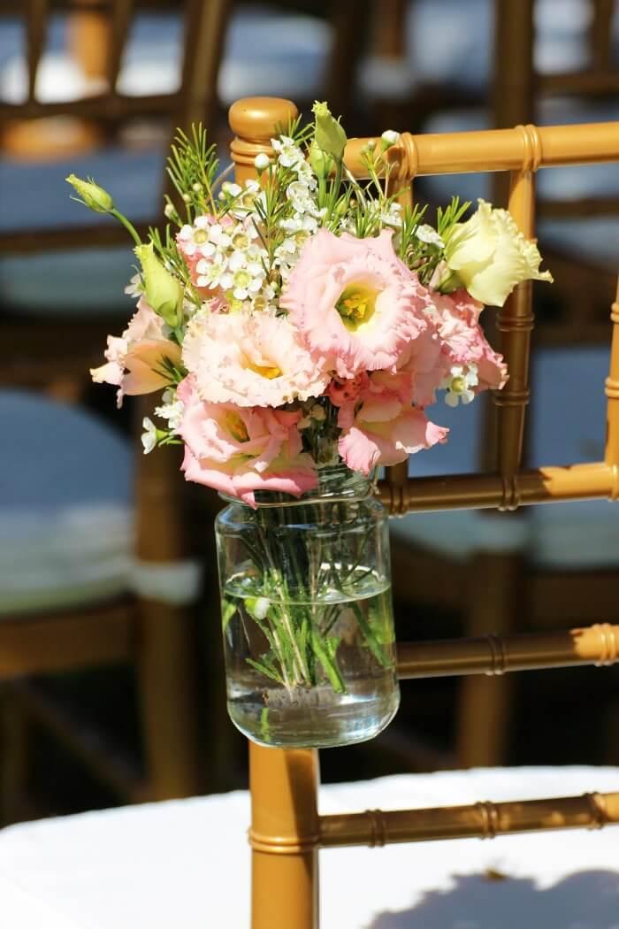 Blumendeko für die freie Trauung