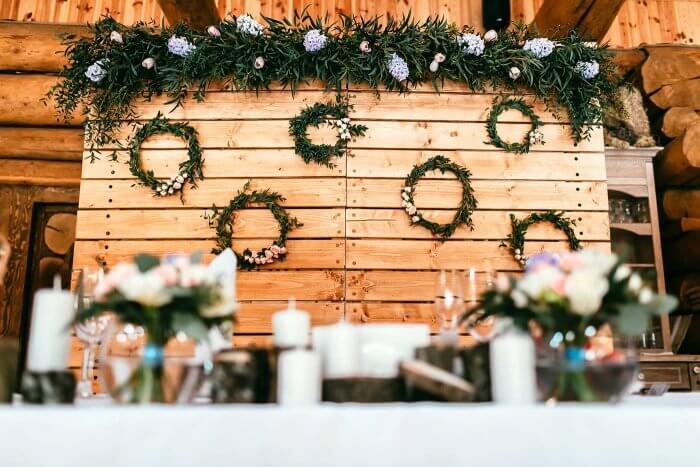 Brauttisch Hintergrund selber machen