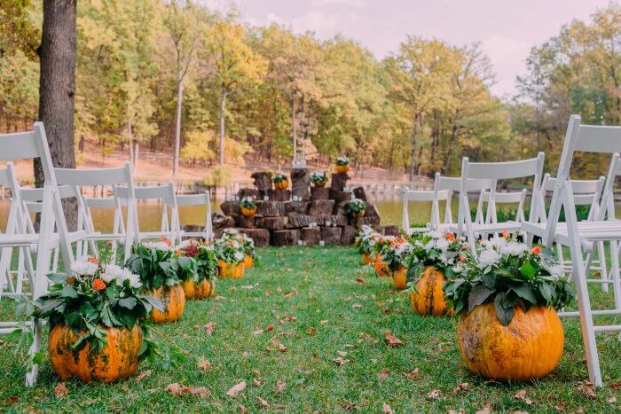 Herbst Hochzeit Deko