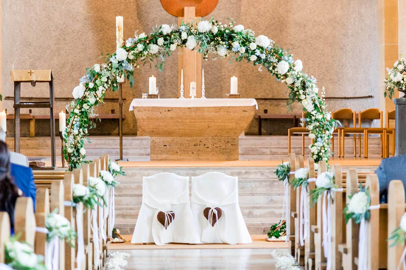 Hochzeit Kirchendekoration