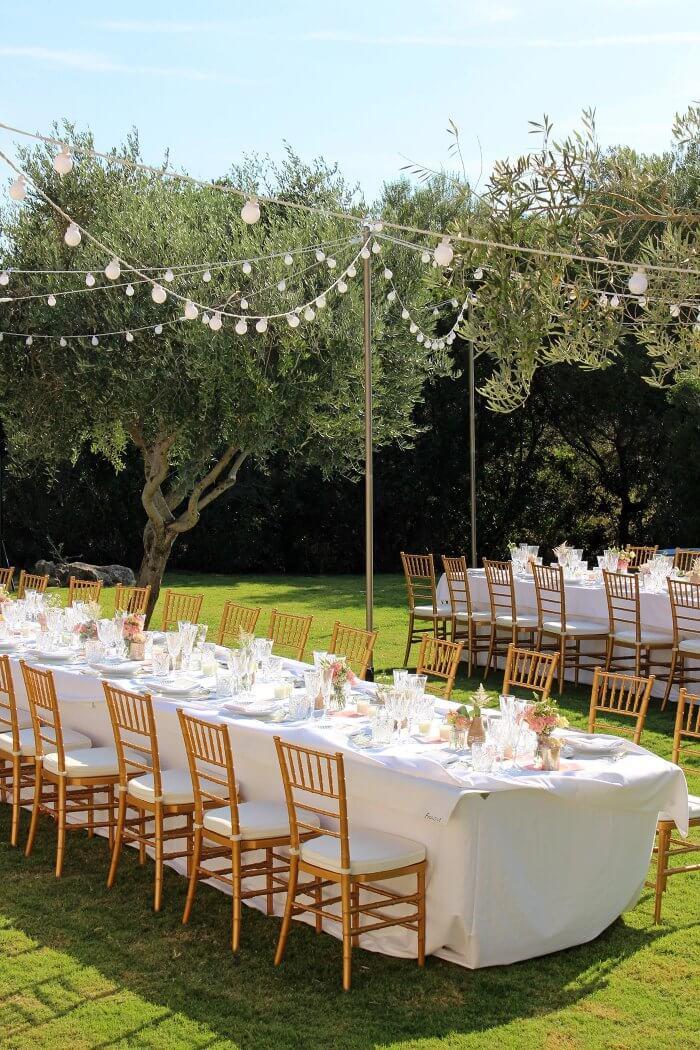 Hochzeit im Garten Deko