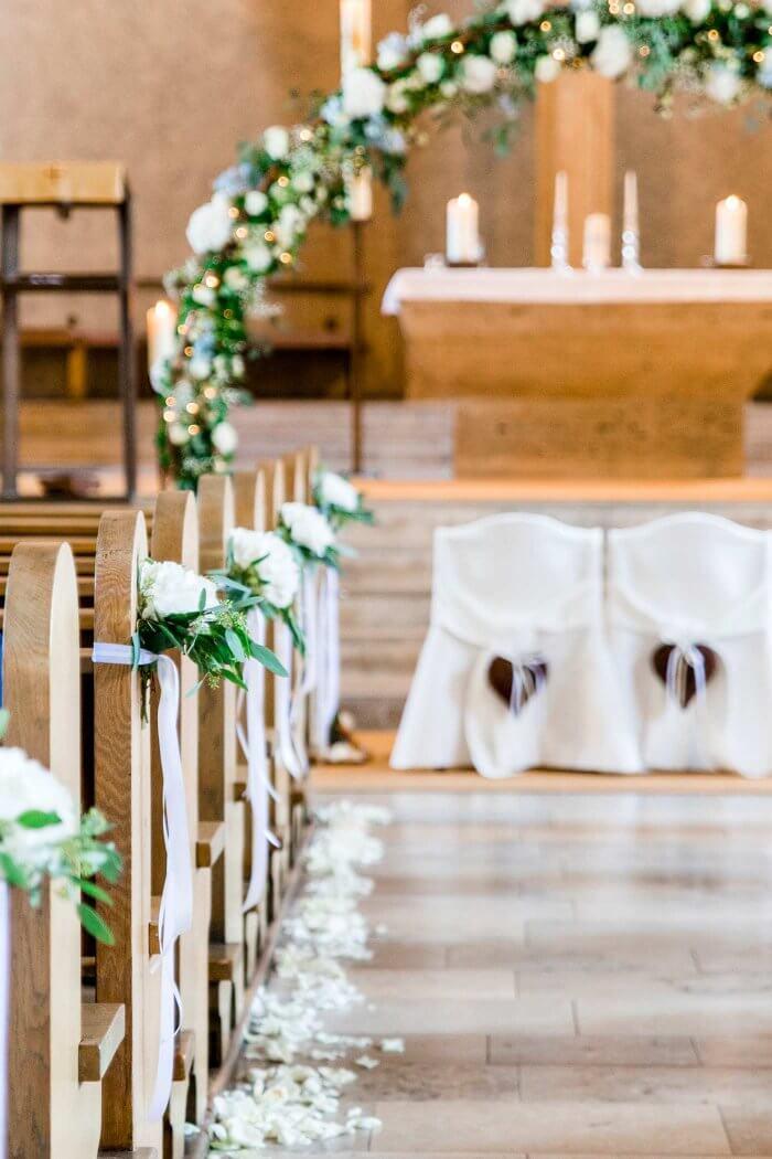 Hochzeitsdeko Kirchenschmuck