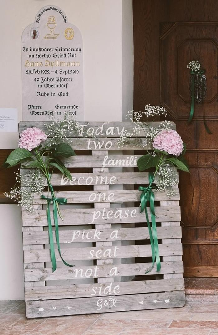 Hochzeitsdeko Paletten