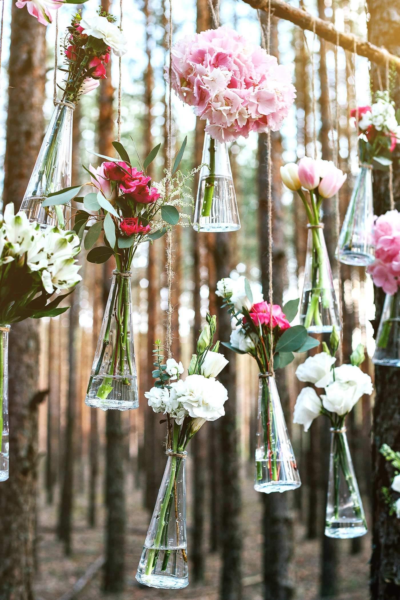 Hochzeitsdeko hängend