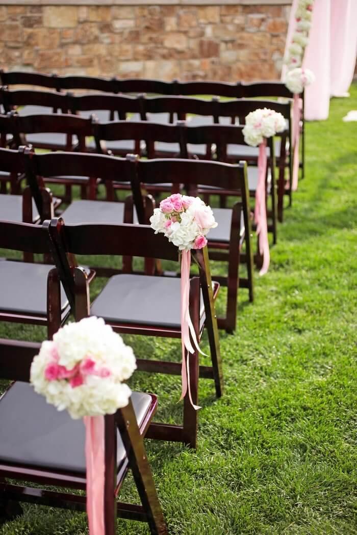 Hochzeitsdeko rosa
