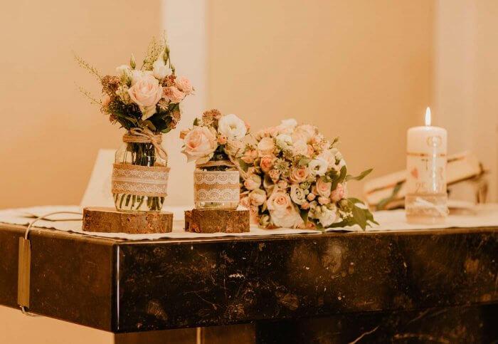 Kirchendeko Hochzeit vintage