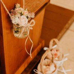 Kirchenschmuck Hochzeit vintage
