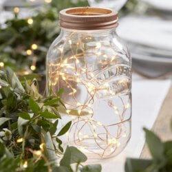 Lichterkette Deko Hochzeit