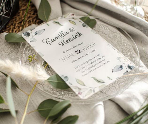 Acryl Hochzeitseinladungen