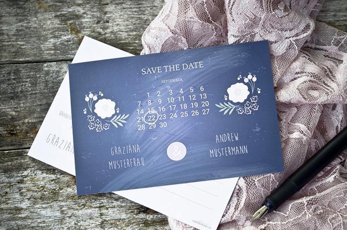 Ausgefallene Save the Date Karten