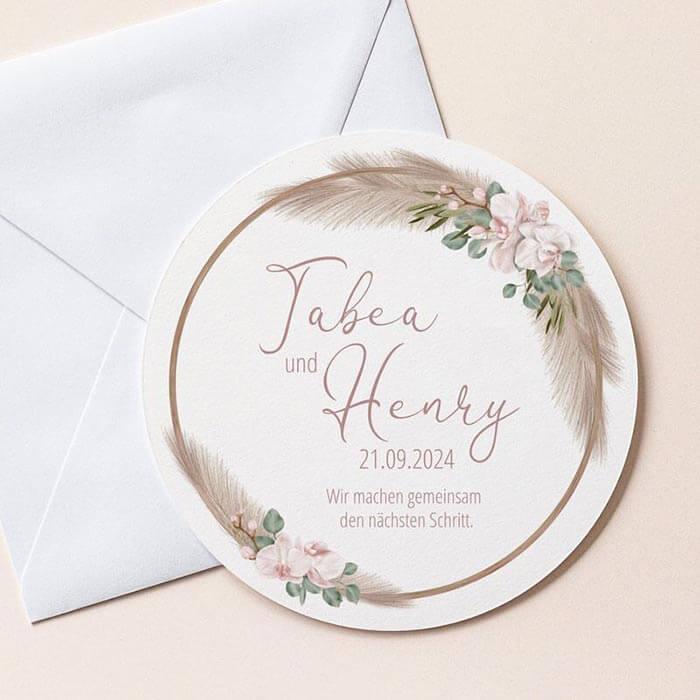 Boho Hochzeitseinladung