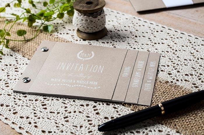 Einladung Hochzeit vintage