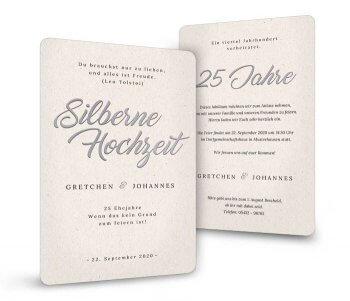 Einladungskarten Silberhochzeit Die Besten Ideen Für Text